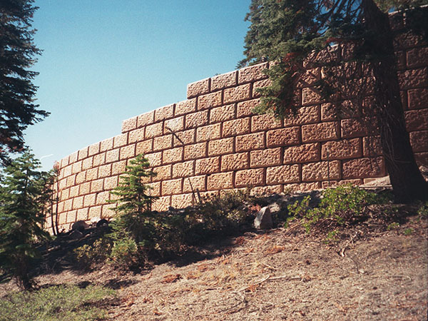 Mammoth Lakes Stained Concrete Block Wall - Thumbnail