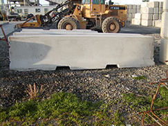 side view of concrete barrier